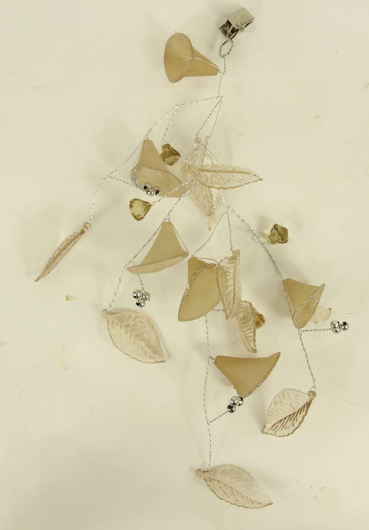 acryl kunstbloemen met clip (6ass.)