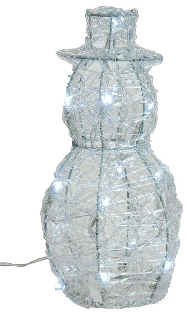 acryl sneeuwman led (b/o)