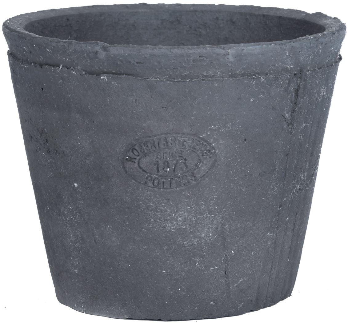 aged terracota grijs pot rond