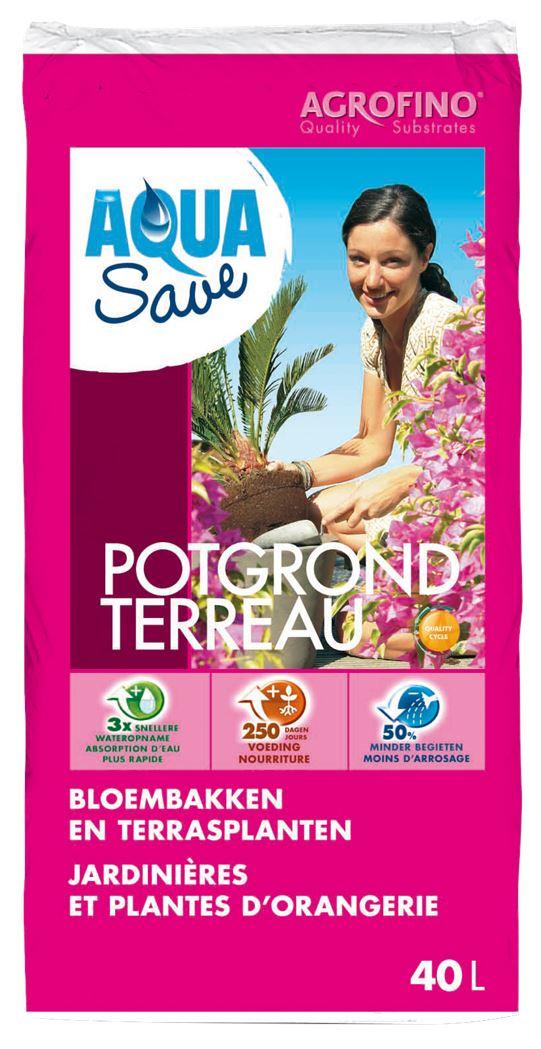 agrofino potgrond aquasave voor bloembakken en terrasplanten