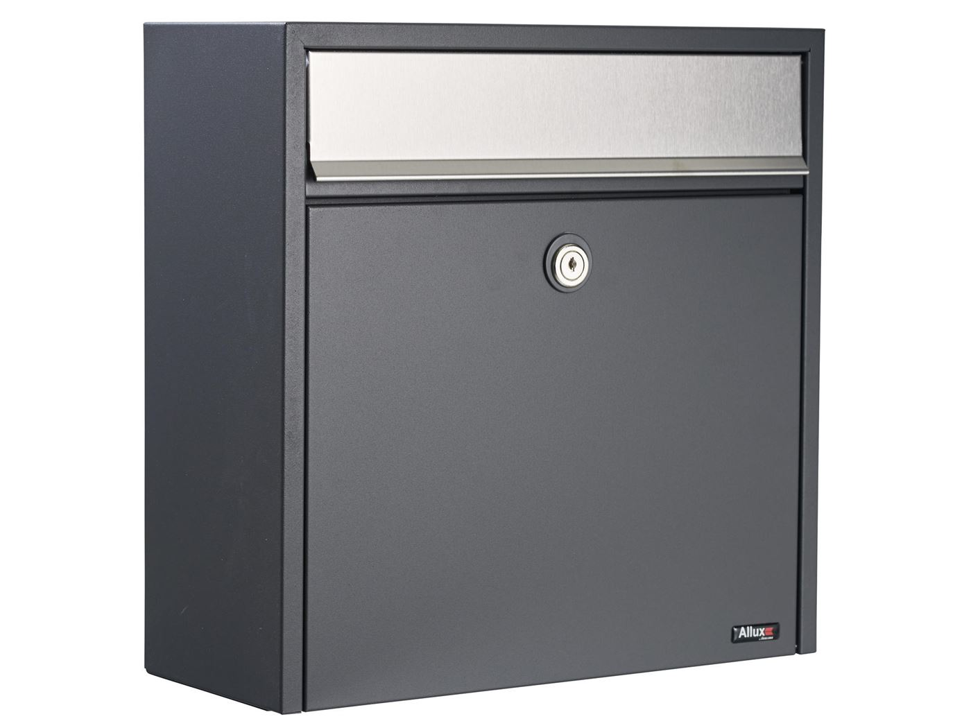allux 250 anthracite with stainless steel flap, euro lock