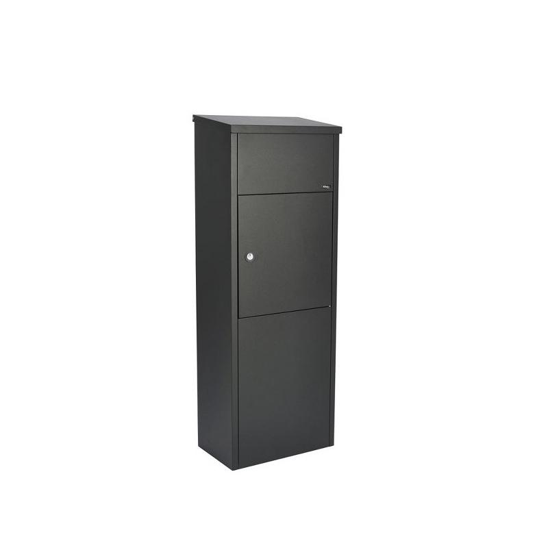 allux pakketbrievenbus 600 black with cylinder lock