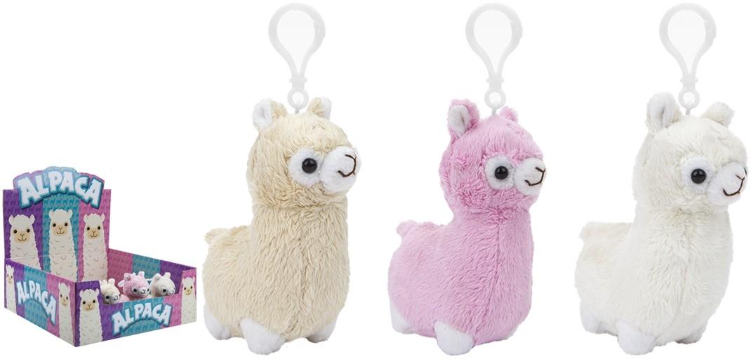 alpaca pluche sleutelhanger (ass.)