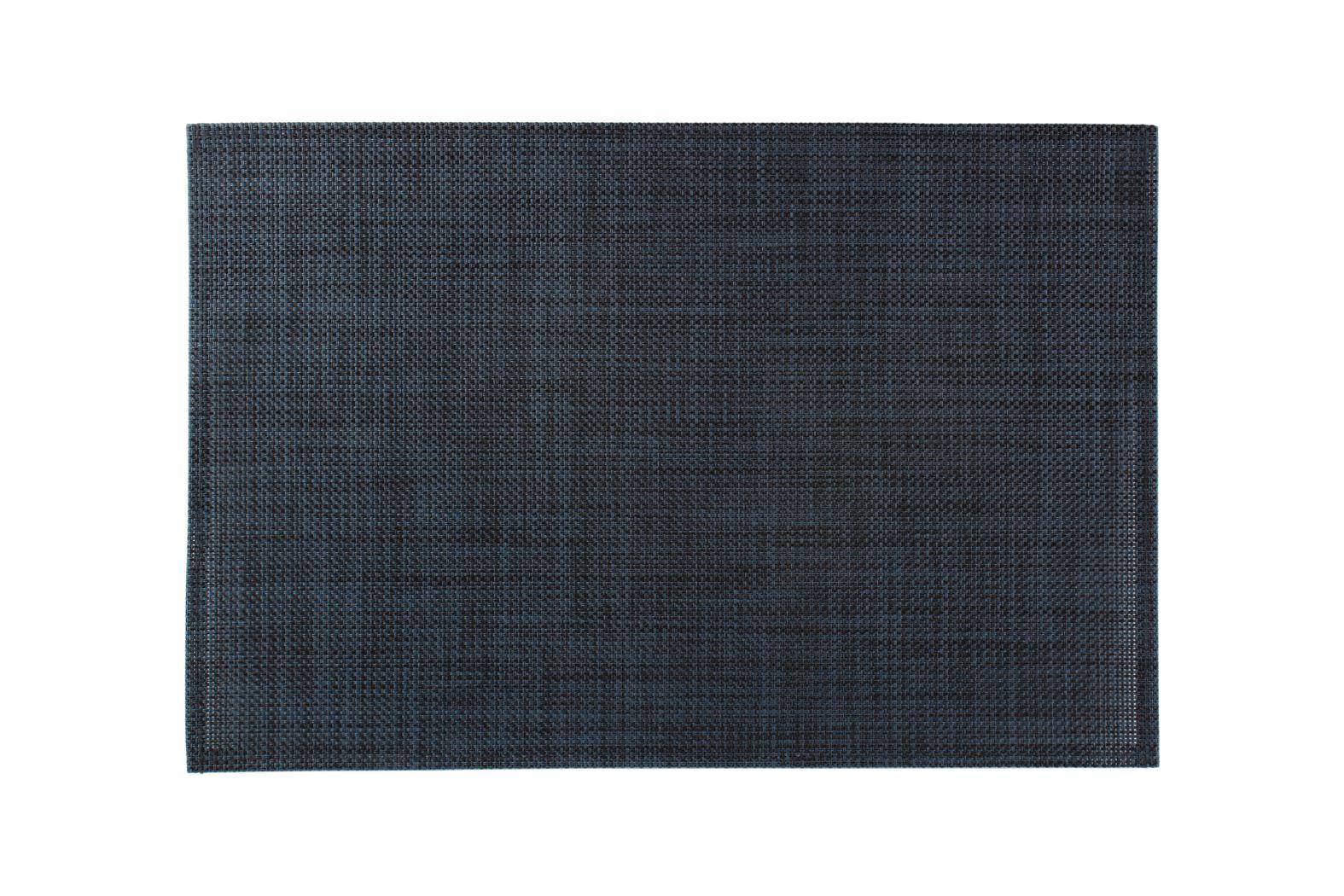 artisan placemat geweven zwart-blauw