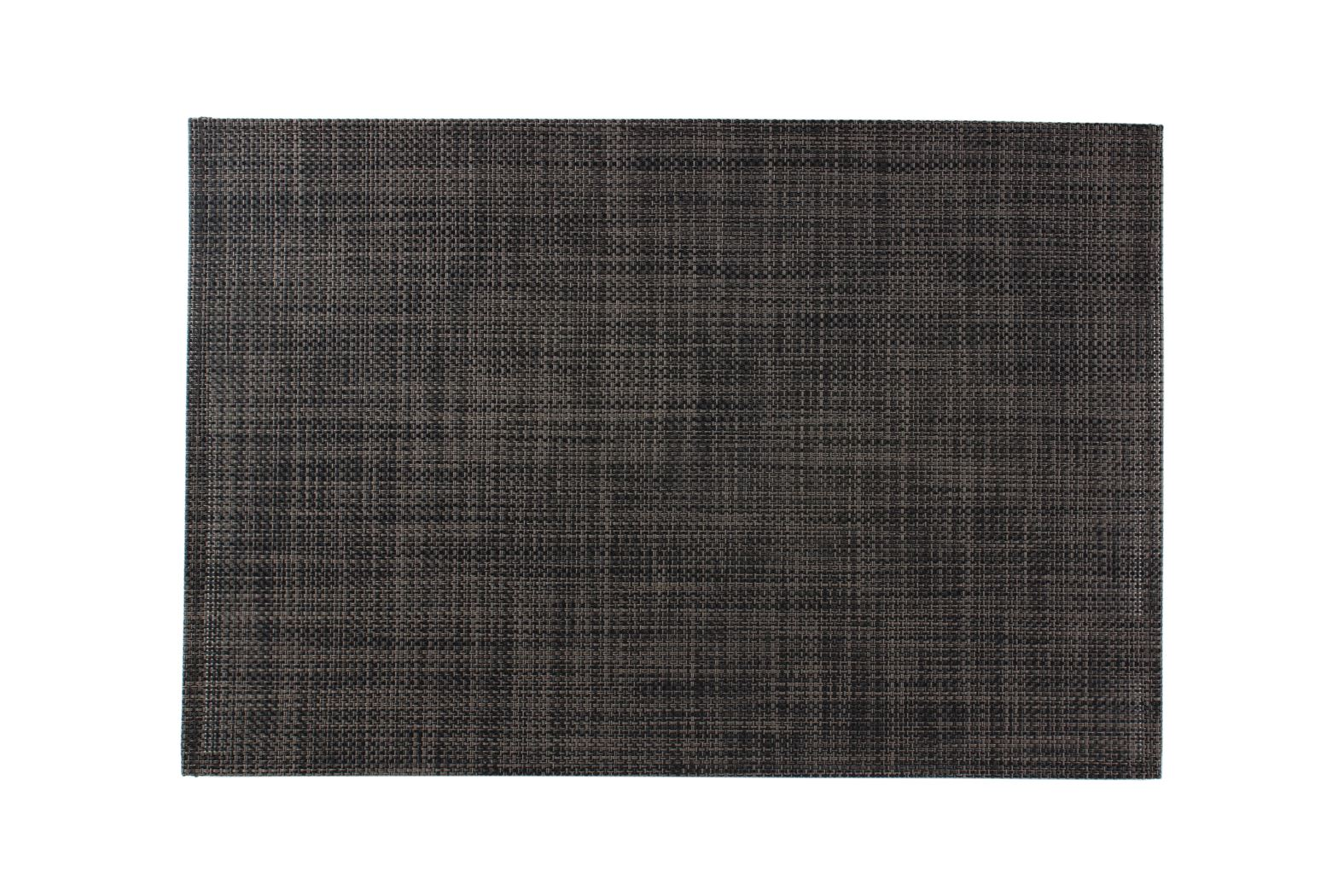 artisan placemat geweven zwart-grijs