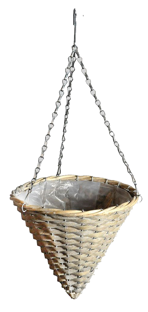 ava hanging basket greywash
