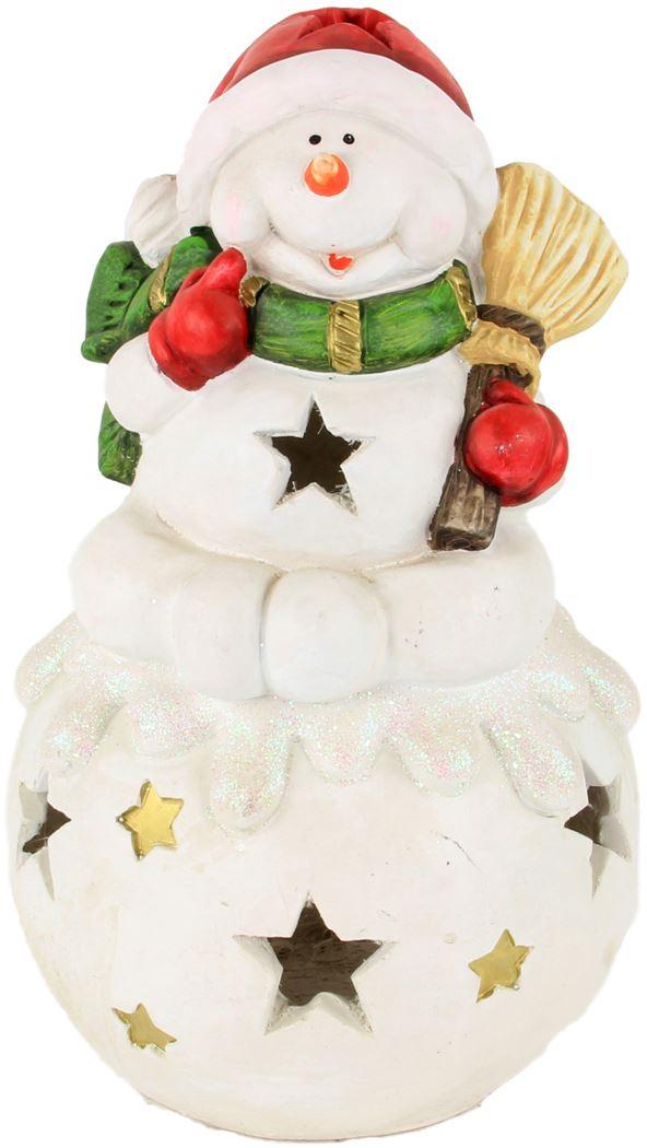 aw t-light snowman sit on ball