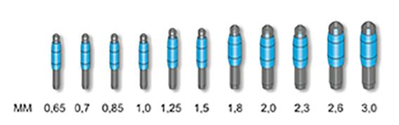 b2 stonfo lijnbevestigers/top 2,60 mm