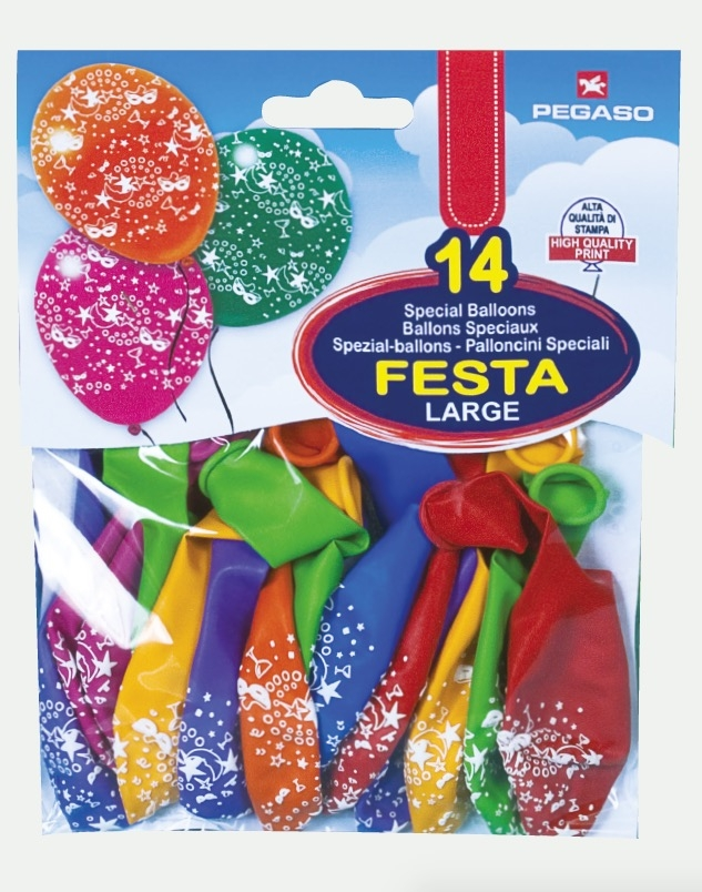 ballonnen party printed allround (14sts)
