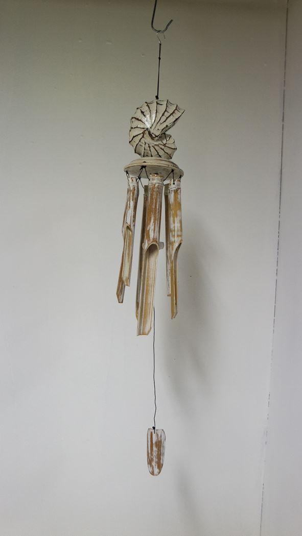 bamboe windspel met schelp