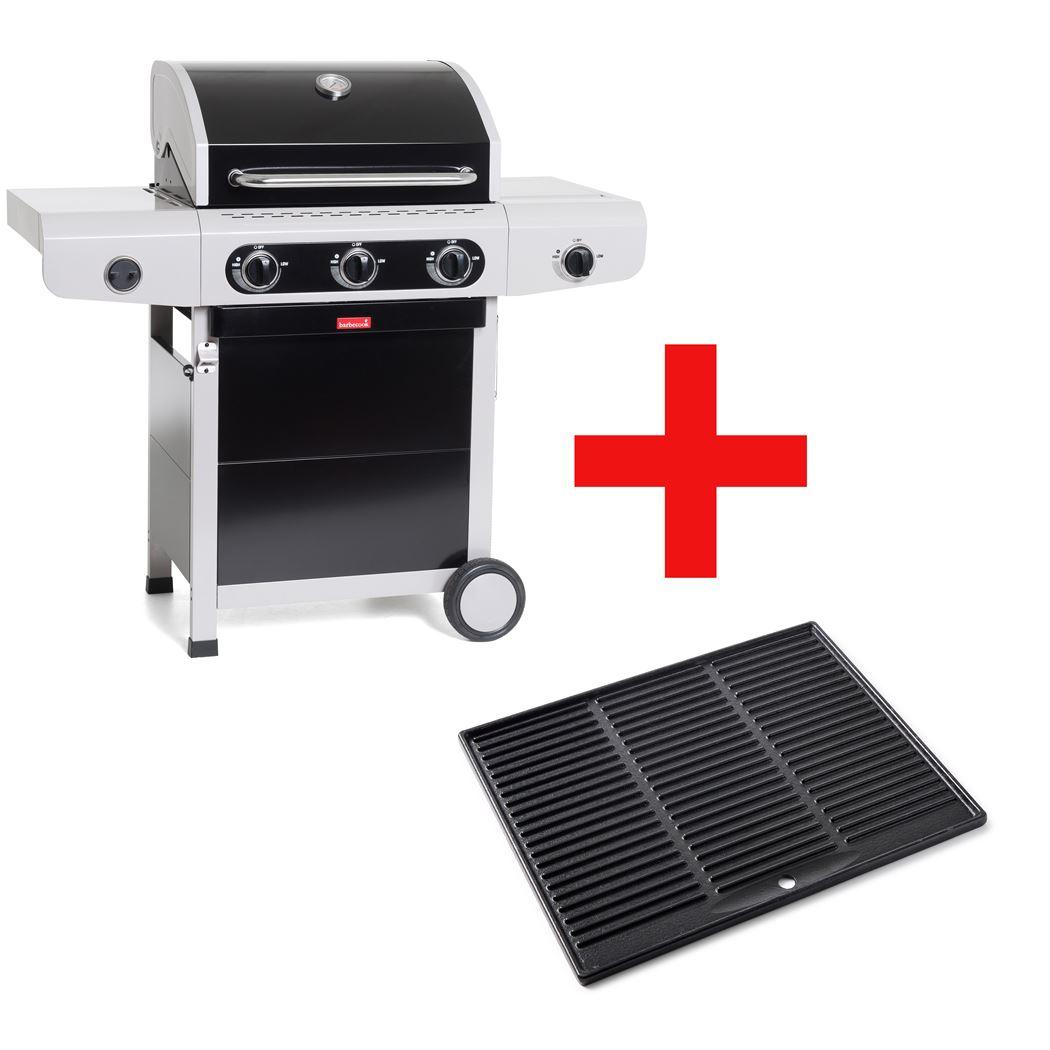 barbecook gasbarbecue siesta 310 - black edition plancha