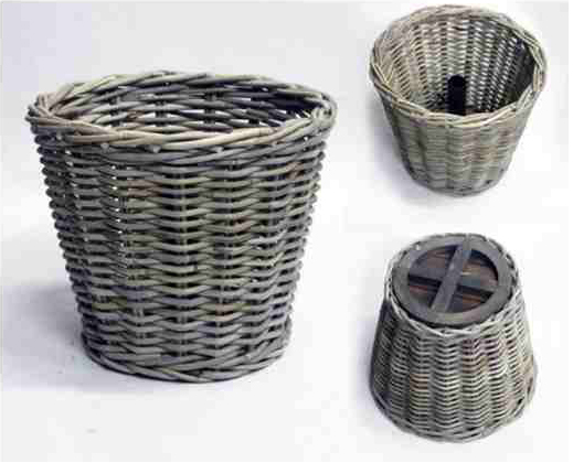 basket christmastree round