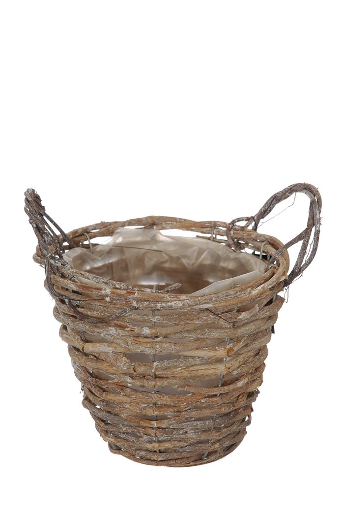 basket flowerpot white