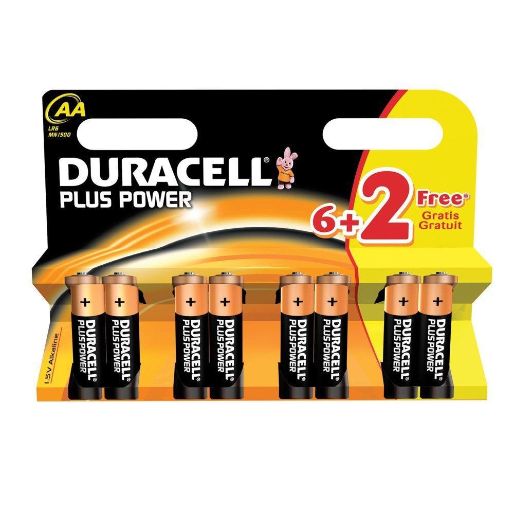 batterij duracell plus power aa lr06 (6+2sts)