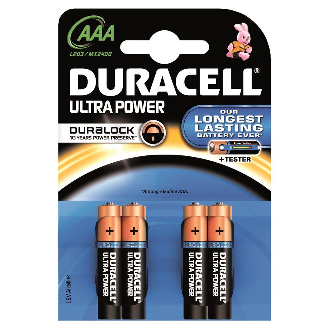 batterij duracell ultra power aaa lr03 (4sts)