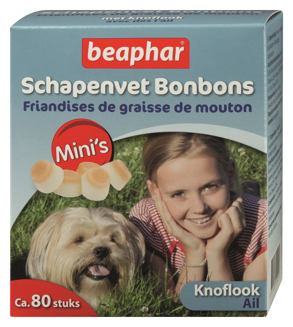 beaphar schapenvet bonbons mini's knoflook