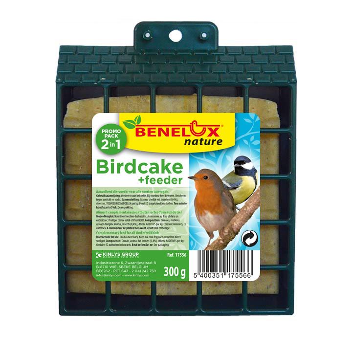 benelux birdcake in houder