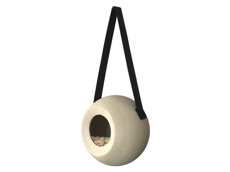 benelux ceramic round feeder lisa beige