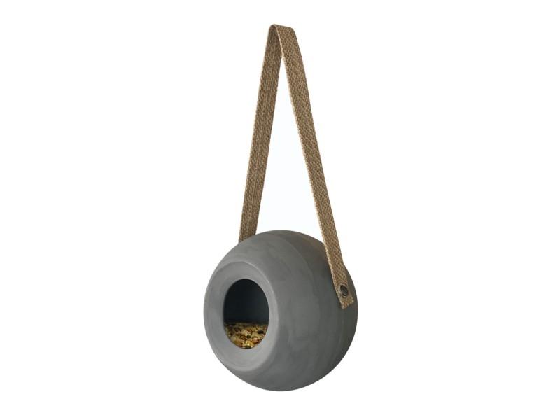benelux ceramic round feeder lisa cool grey