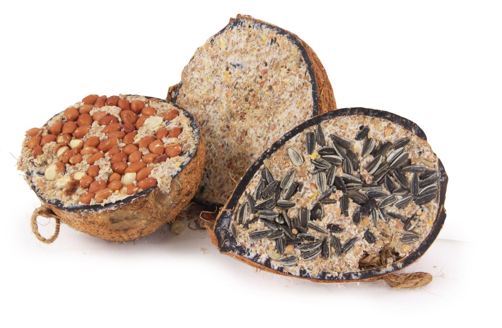 benelux cocosnoot 3 smaken op schaal voor vrije natuurvogels