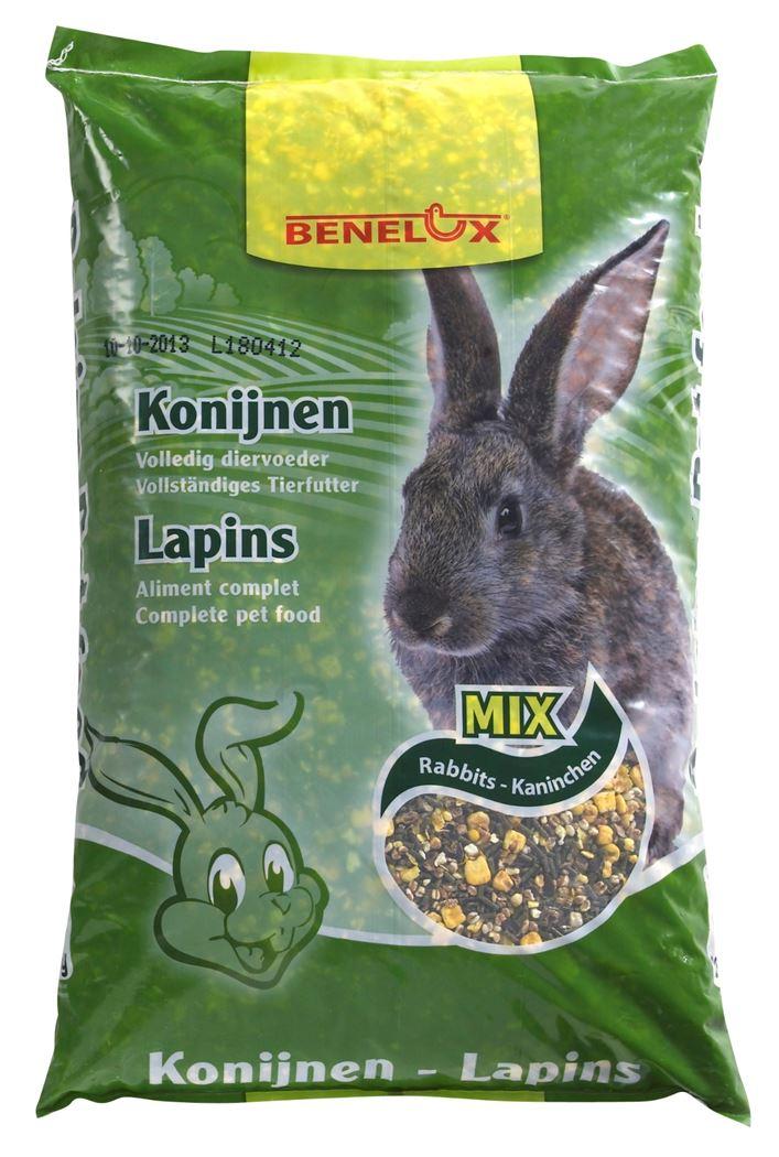 benelux konijnenvoer gemengd + gepofte granen