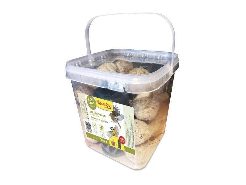 benelux mezenbollen zonder netje (28sts) en gerecycleerde voeder