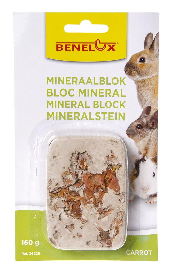 benelux mineral block voor knaagdieren carrots