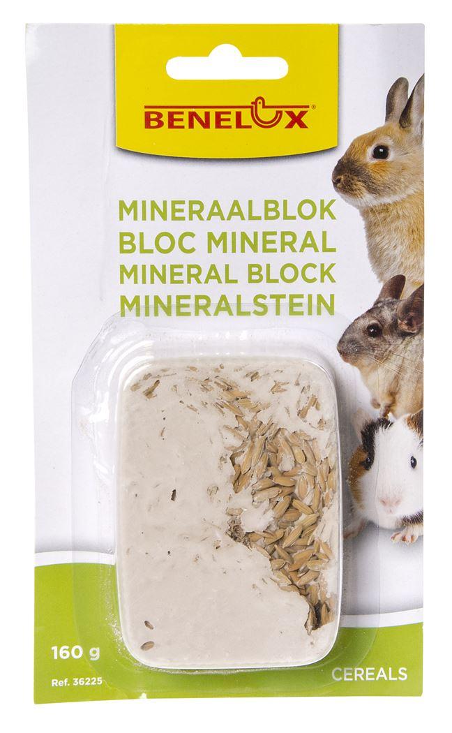 benelux mineral block voor knaagdieren cereals