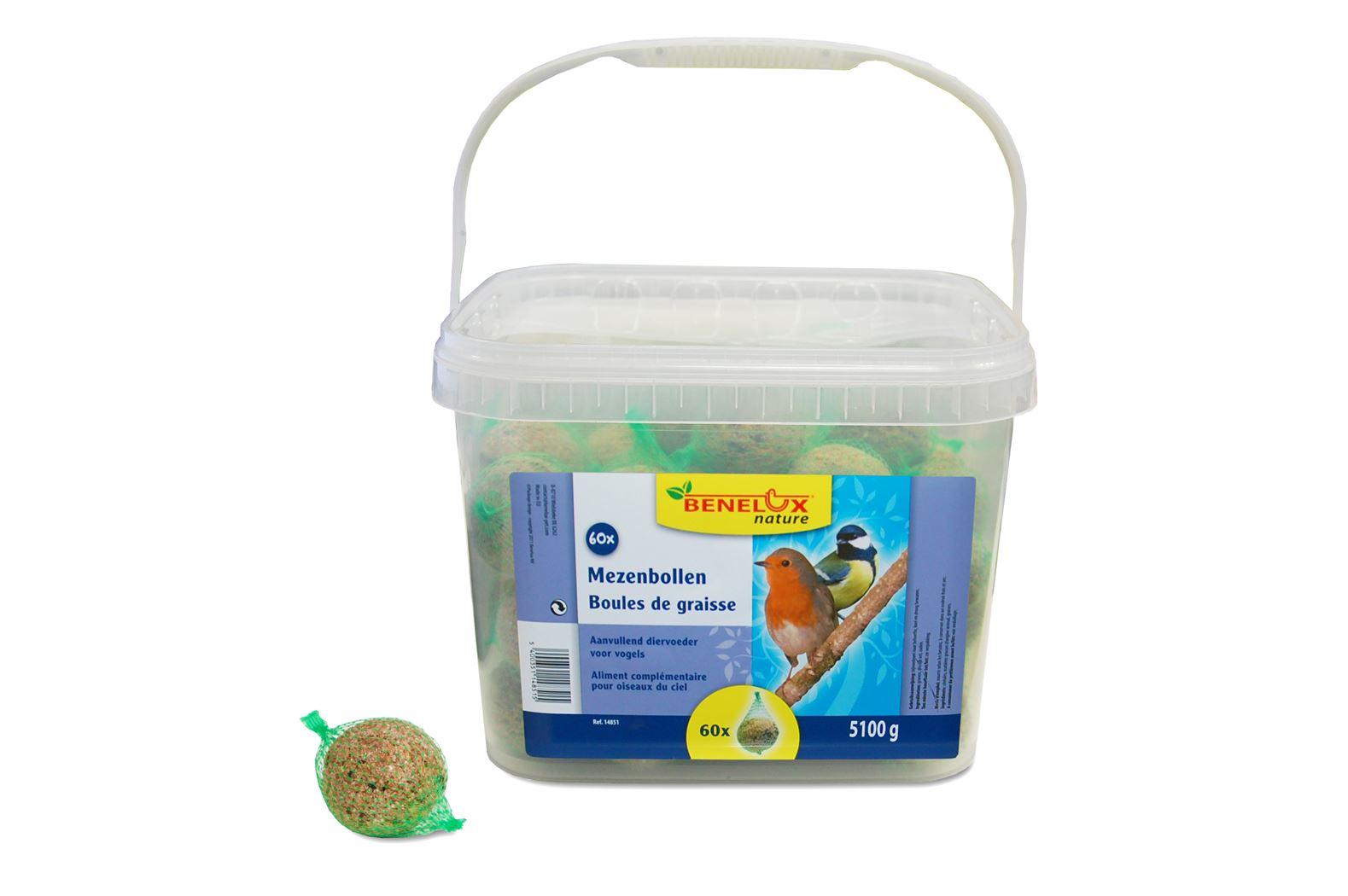 benelux mezenbollen voor vrije natuurvogels (60sts)