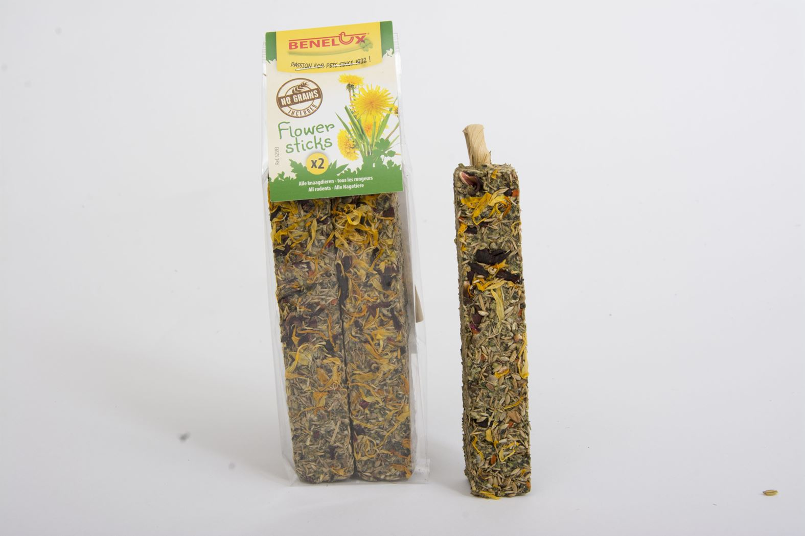 benelux sticks flower grain free (2sts)
