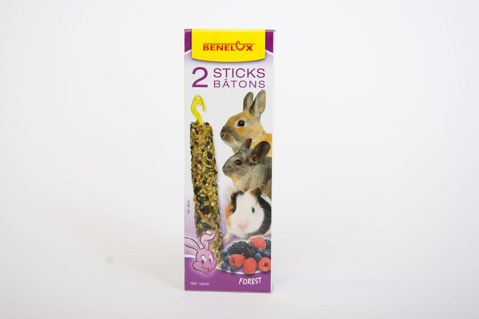 benelux sticks knaagdier bosvruchten (2sts)
