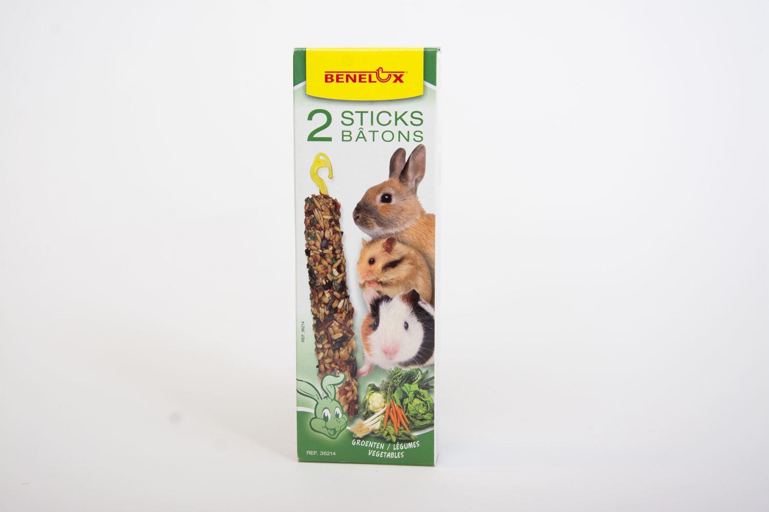 benelux sticks knaagdier groenten (2sts)