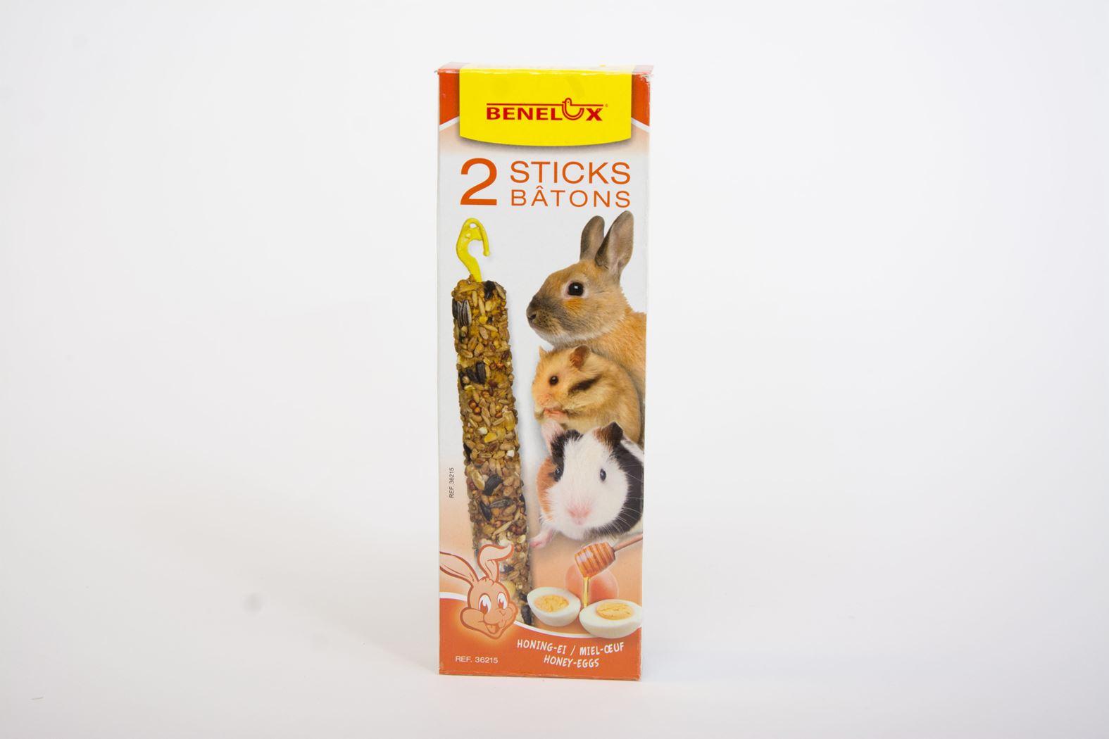 benelux sticks knaagdier honing/ei (2sts)