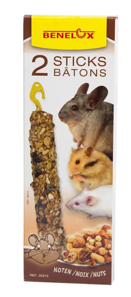 benelux sticks knaagdier noten (2sts)