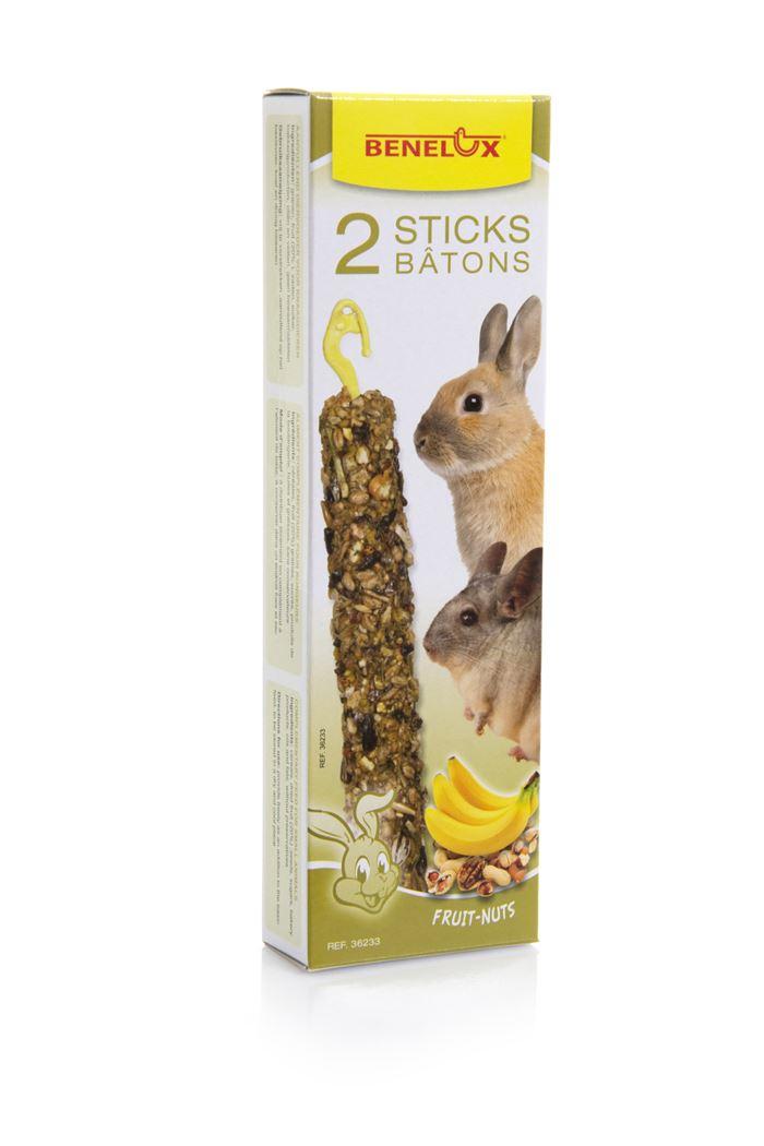 benelux sticks xxl knaagdier noten/banaan (2sts)