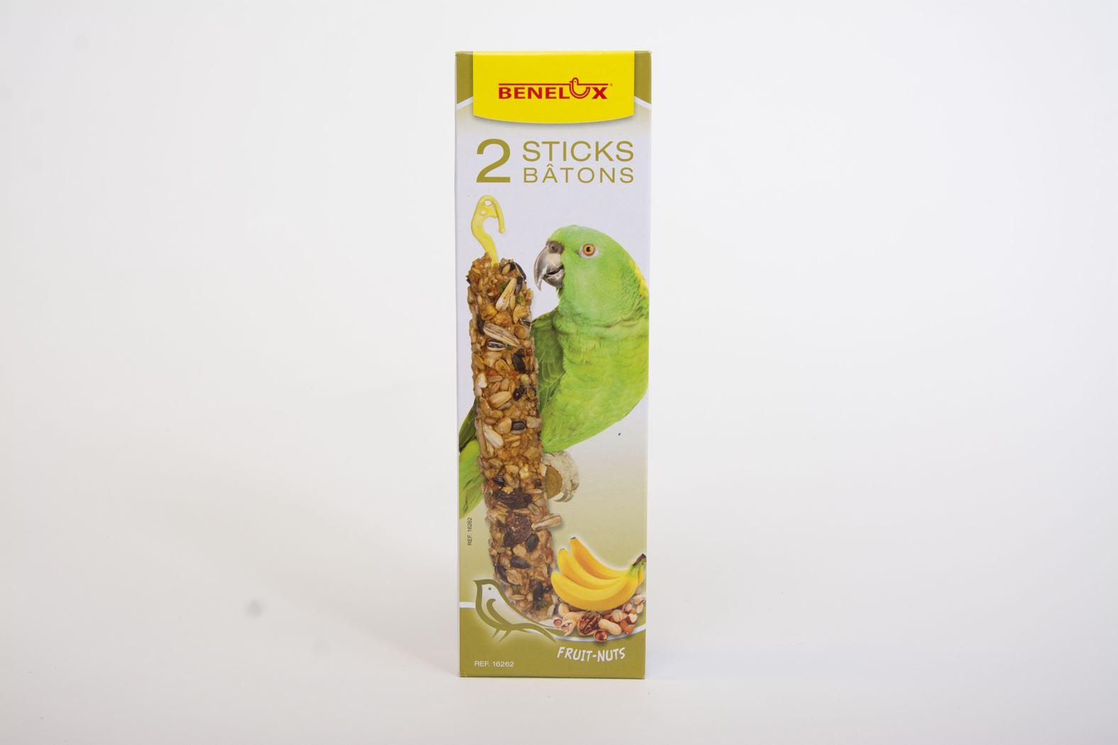 benelux sticks xxl papegaai noten/banaan (2sts)