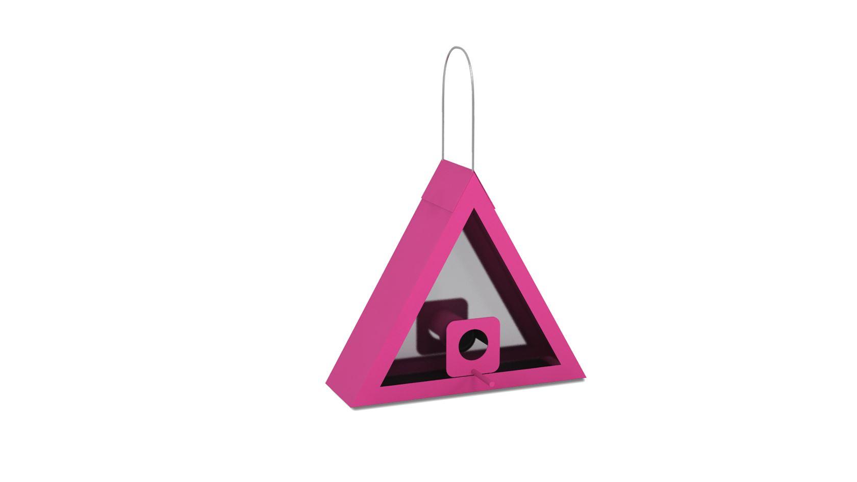 benelux voedersilo triangel roze