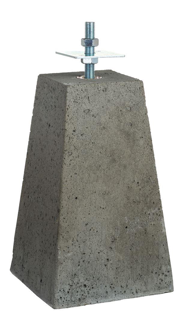 betonpoer verstelbaar grijs