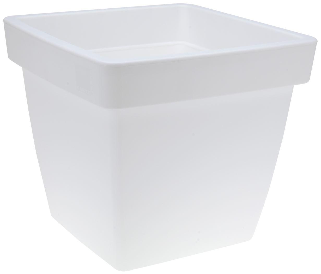 bloempot vierkant wit