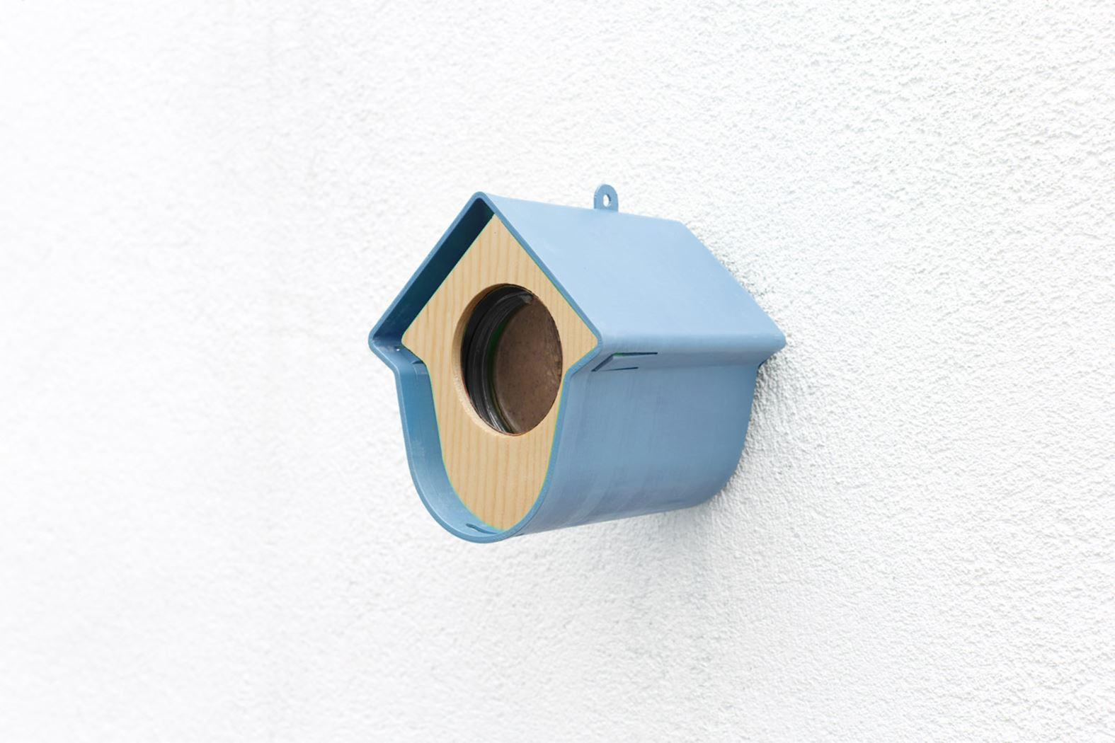 benelux evie pindapothouder+nestkast+huisje blauw