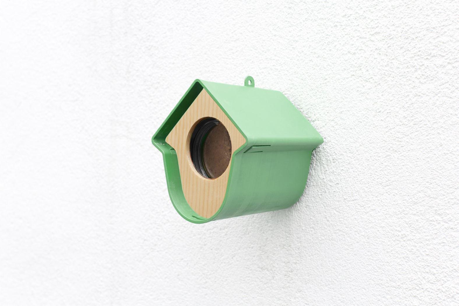 benelux evie pindapothouder+nestkast+huisje groen