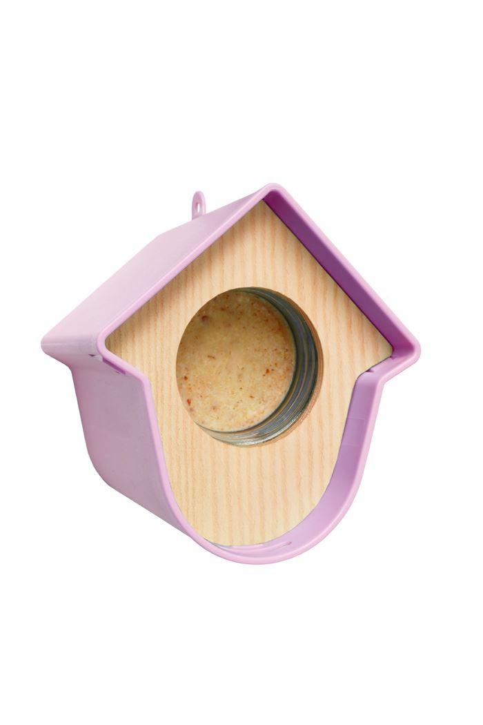 benelux evie pindapothouder+nestkast+huisje paars