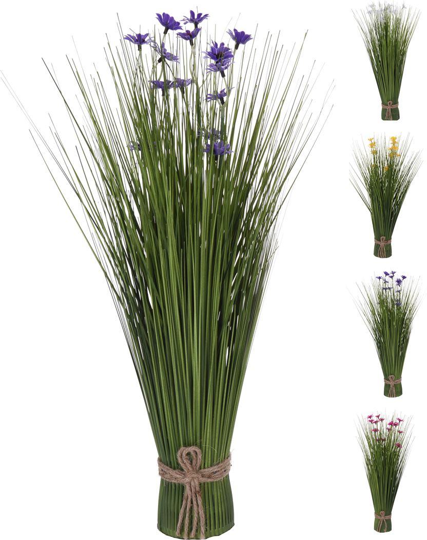 boeket spriet gras met bloemen