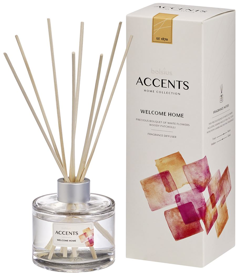 bolsius accents reed diffuser welcome home