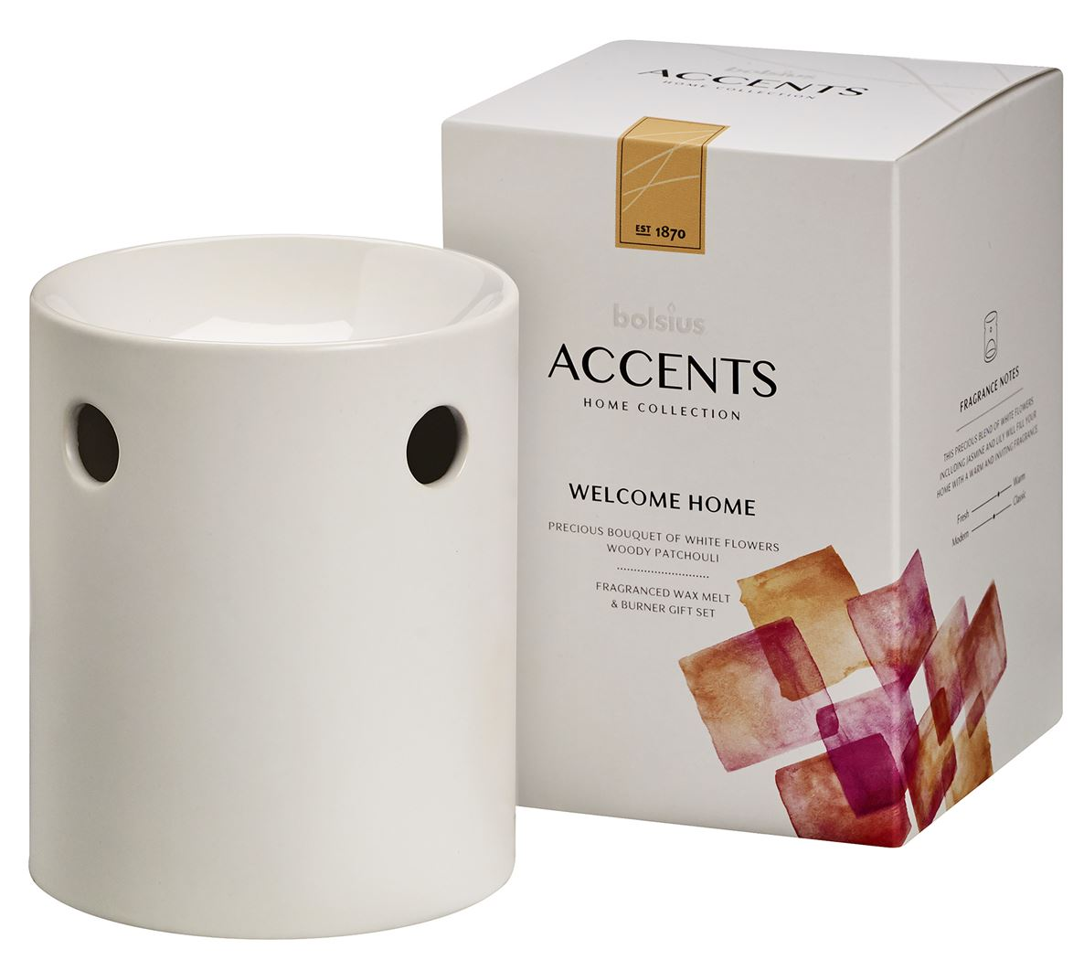 bolsius accents waxmelts giftset welcome home