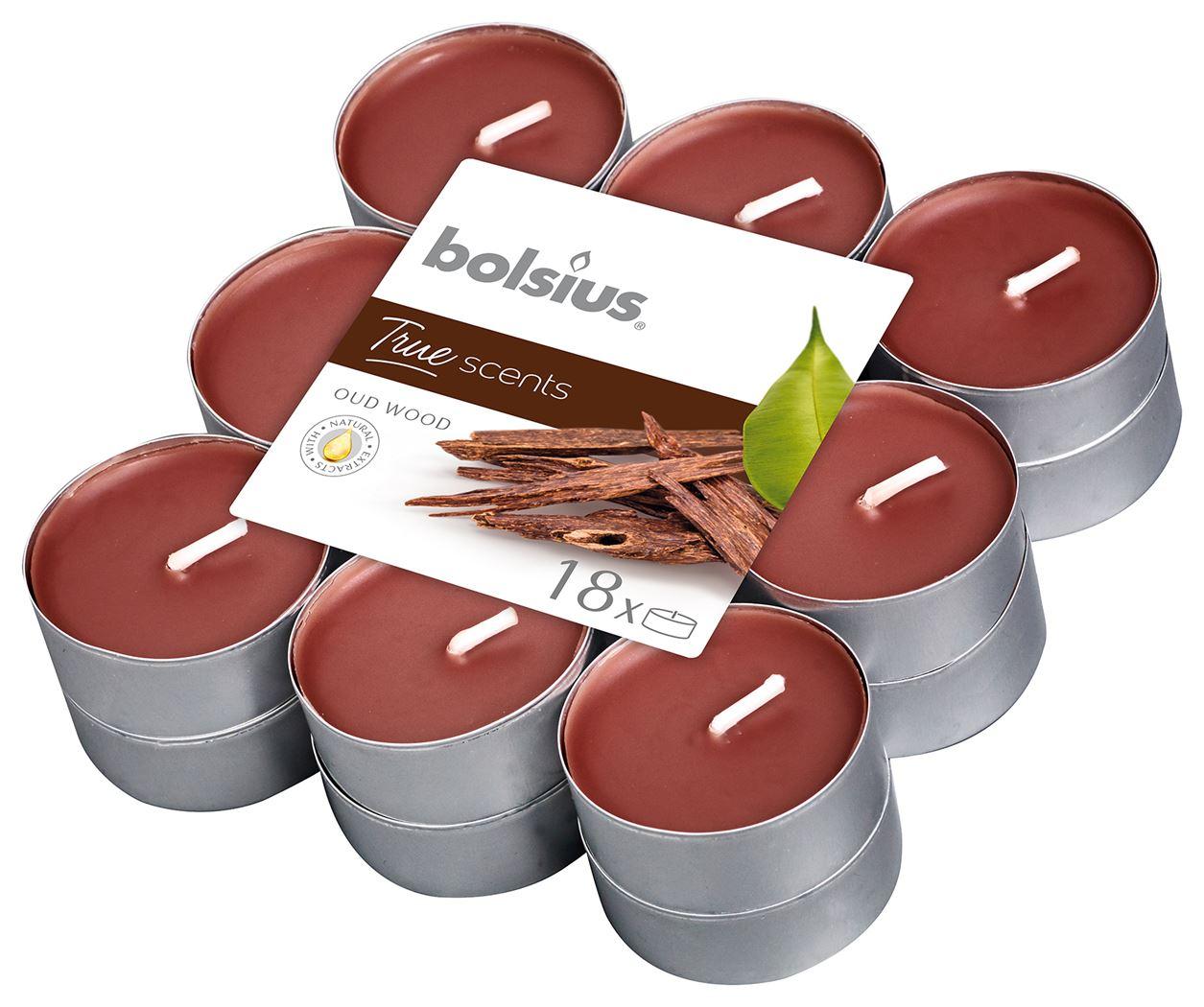 bolsius geurtheelicht true scents oud wood (18sts)