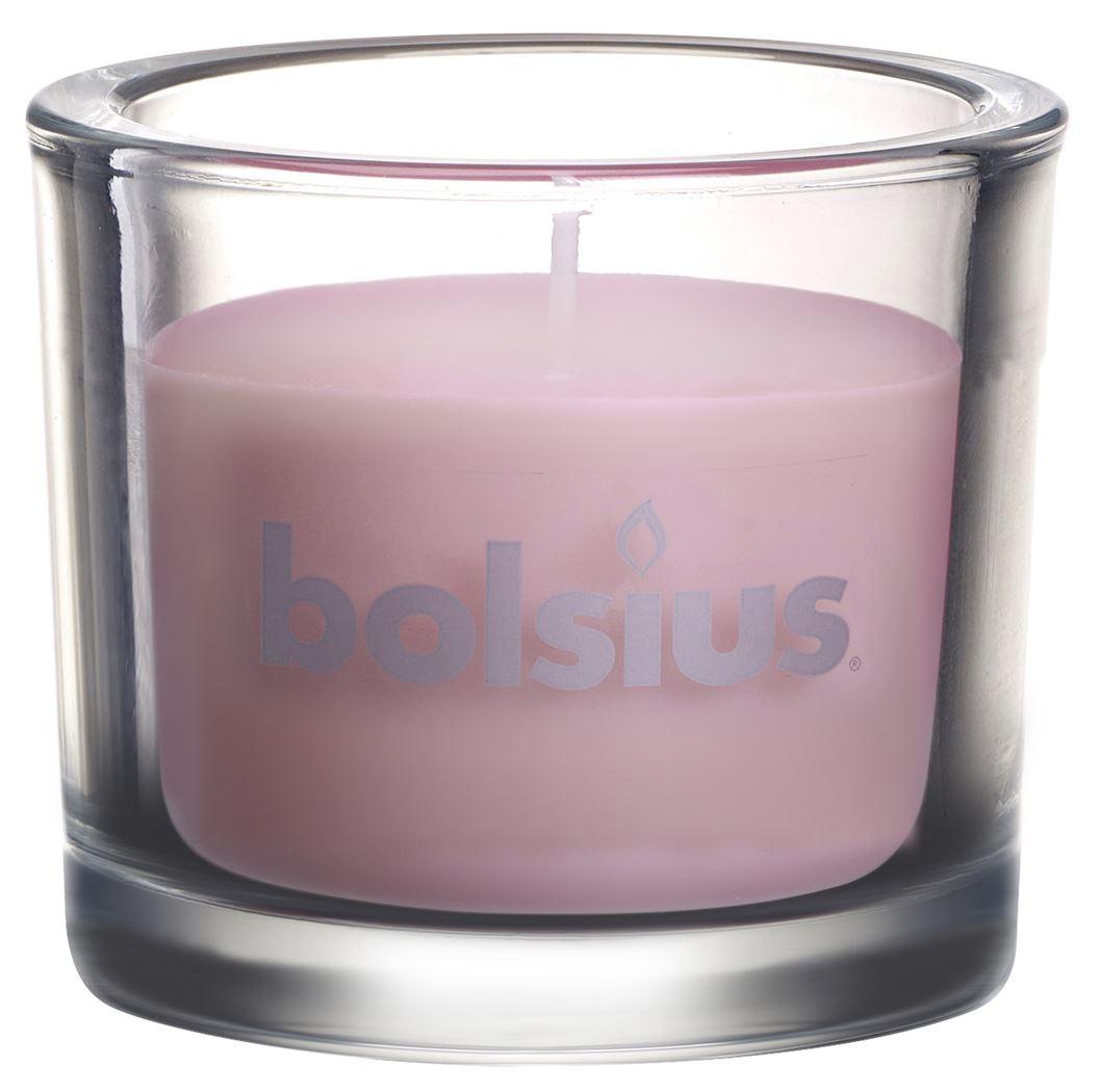 bolsius glas chic pastel roze