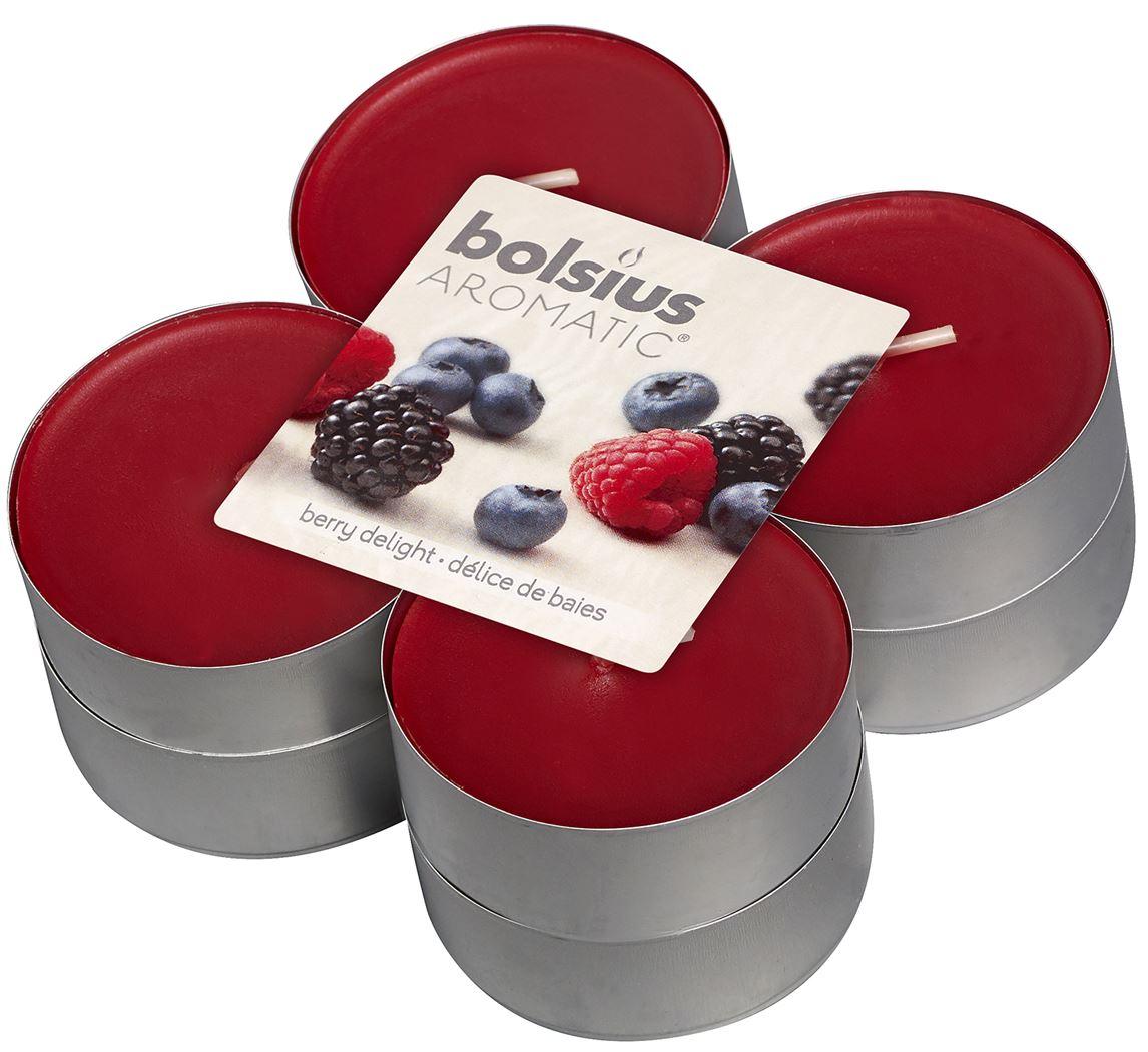bolsius maxi geurtheelichten 8h berry delight (8sts)