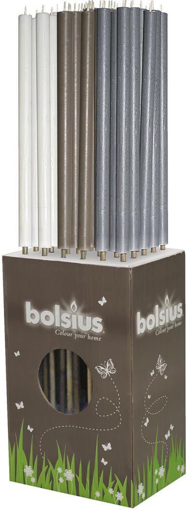 bolsius rustiek fakkel wit/taupe/grijs (3ass.)