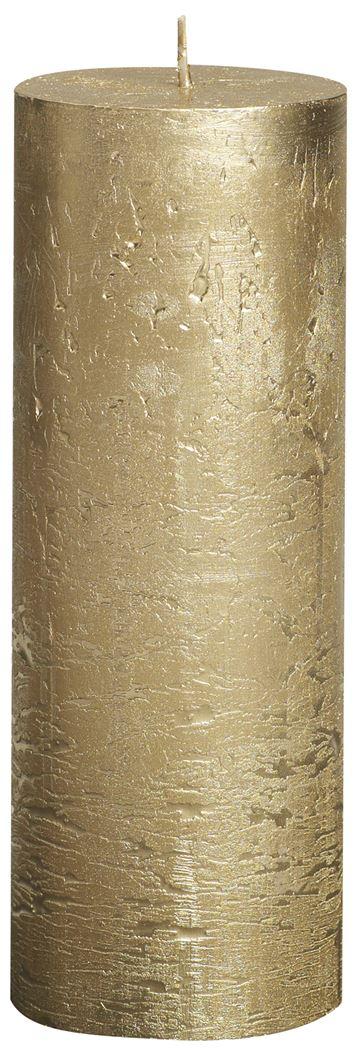 bolsius rustieke stompkaars metallic goud